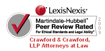 Crawford & Crawford, PLLC -- Martindale-Hubbell Peer Review Rated